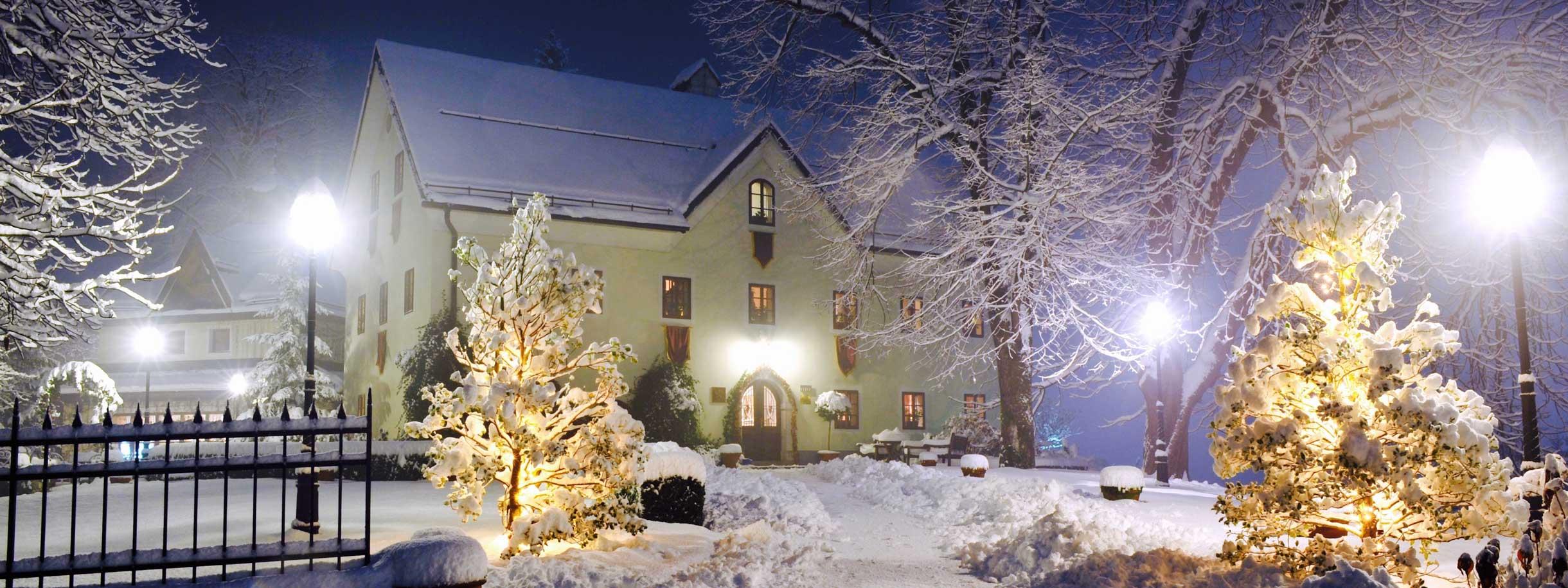 Kendov dvorec in winter